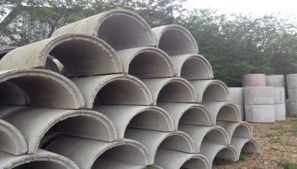 Calhas de concreto